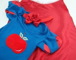 Blusa+Capa+Faixa Branca De Neve-Azul !!