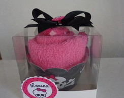 "Cupcake De Toalha ""Monster High"""