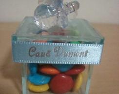 Caixa de vidro com chupetas em acr�lico