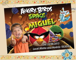 Convite Angry Birds do espa�o