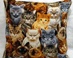 Capa de almofada gatinhos [cod24]