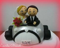 Topo de bolo - Casamento da Karyn