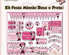 Kit Festa Minnie (Rosa e Preto)