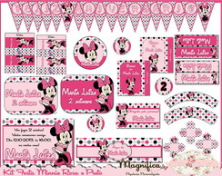 Kit Festa Minnie (rosa E Preto)