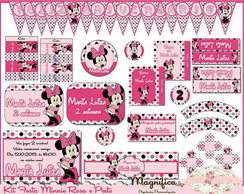 Kit Festa Minnie ( Rosa e Preto)