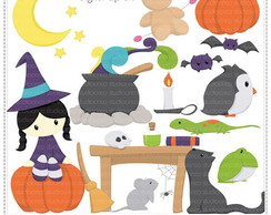 Lil Witch Clipart Digital