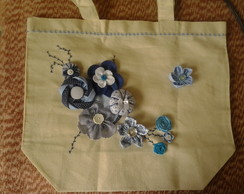 Eco Bag Decorada - Azul