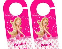 Aviso Porta Barbie Moda e Magia