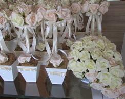 Kit casamento topiaras & bouquet noiva I