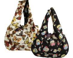 Bolsa dupla face com bolsos -