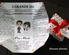 Convite de Casamento Jornal Po� Vermelho
