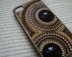 Case Iphone 4/4S Preta Redonda