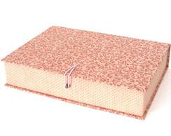 Caixa Organizadora Flores - Rosa