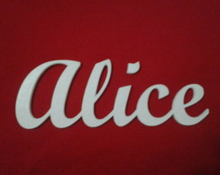 NOME ALICE MDF PINTADO 14X5,0 cm