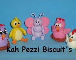 turma da galinha pintadinha em biscuit