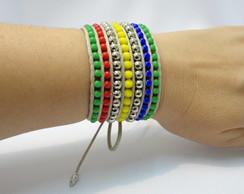 Bracelete Hippie Colorido Ver�o