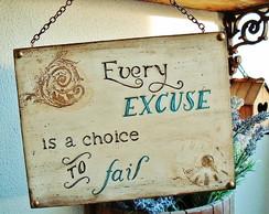 Placa Excuse