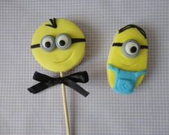 Biscoitos decorados do Minions