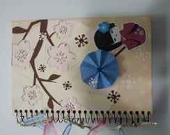 caderno decorado Gueixa Sakura