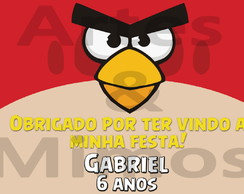 Adesivo Para Caixinha De Ovo Angry Birds