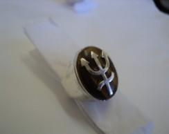 Anel Pomba Gira, pedra Olho de Tigre.