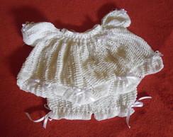 vestido e shortinho em croch�