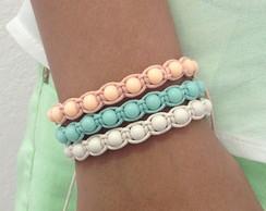 Kit pulseiras Candy Colors