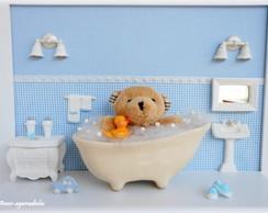 Quadro Urso na Banheira
