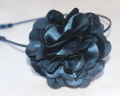 Tiara Flor Azul Marinho