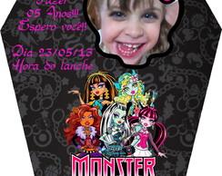 Convite Monster High Caix�o