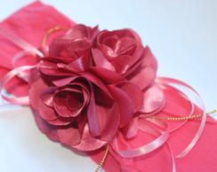Faixa De Meia Bouquet De Flores goiaba