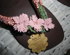 chinelo havaiana bordado com mi�angas