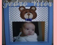 Quadro porta retrato com Ursinho