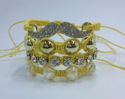 Kit bigode amarelo