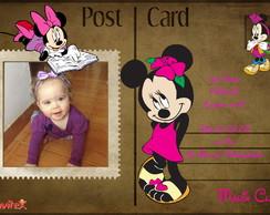 Convite Minnie Postal