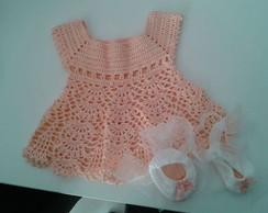 vestido croch� rendinha