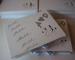 Caixa convite para padrinhos aromatizada