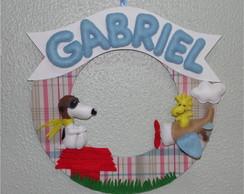 Porta Maternidade Snoopy Aviador