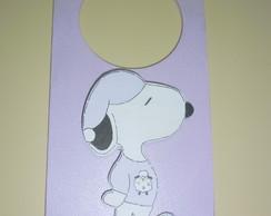 Plaquinha Para Ma�aneta do Snoopy