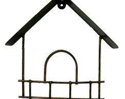porta chaves de casinha em ferro forjado