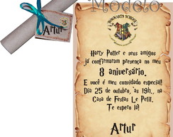 Convite Pergaminho Harry Potter