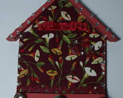 Porta-chaves Casinha Vermelho