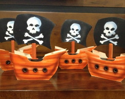 Barco Pirata em MDF Centro de mesa