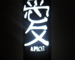 Lumin�ria em PVC Chinesa Amor