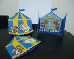 Convite Tenda de Circo Patati Patat�