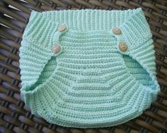 Tapa fralda em croch�