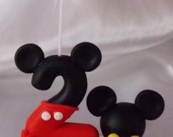 Vela Topo De Bolo Mickey Nome