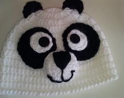 touca de croch� new born panda
