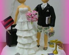 Topo de bolo - Casamento da �rika