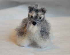 Cachorrinho Schnauzer (needleFelting )